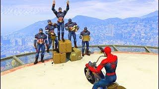 GTA 5 Crazy Ragdolls Spiderman Vs Captain America EPIC (Euphoria Physics, Fails, Funny Moments)