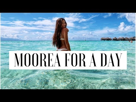 MOOREA FOR A DAY (first time at the BEACH) -VLOG 8