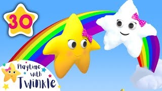 Learn Rainbow Shapes with Twinkle in the Clouds Song   Kids Songs   Nursery Rhymes   Little Baby Bum