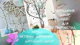 Ветки в декоре Как украсить дом ветками деревьев Красивые идеи для творчества