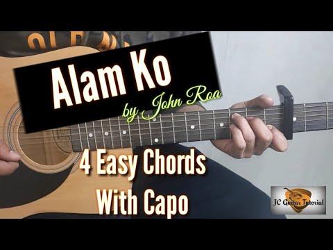 Alam ko - John Roa Guitar Chords (Guitar Tutorial) (Easy Chords)