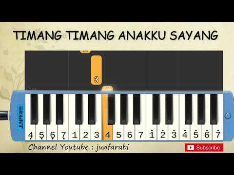 not pianika timang timang anakku sayang - lagu daerah - belajar pianika not angka