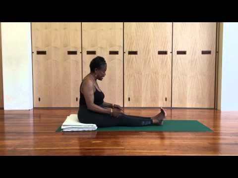 Jaki Nett Teaches Dandasana (Staff Pose) Iyengar Yoga