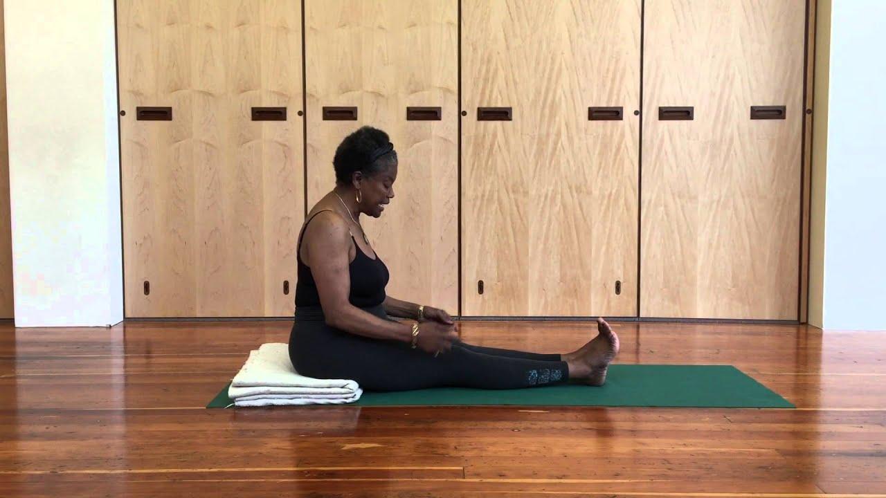Jaki Nett Teaches Dandasana (Staff Pose) - Iyengar Yoga ...