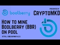 How to mine Boolberry BBR on pool