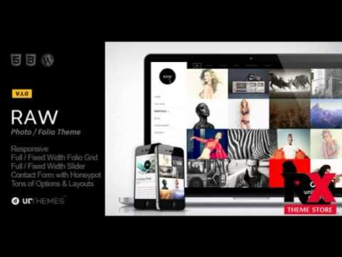 Preview Raw - Responsive Photography WordPress Theme - YouTube