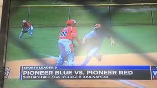 Pioneer baseball team on news