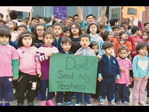 Protest of Pak-Turk school students in Lahore