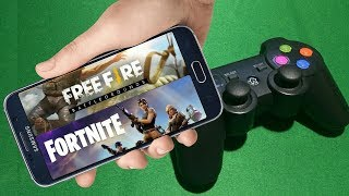 HOW TO PLAY FREE FIRE, FORTNITE OR PUBG WITH CONTROL GAMEPAD ANDROID VA 001