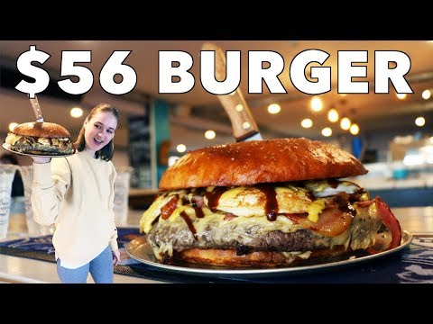 JT - Model Takes on a 4 LB Burger