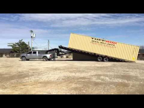 Shipping Container Trailer >> 40ft Highcube Container Delivery Youtube
