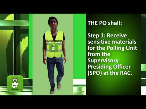 INEC Election Training Materials for The Training of Election Officers