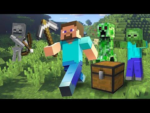 Майнкрафт ( Minecraft) ОБЗОР видео игры — Ночь в майнкрафте! — Прогоняем Гаста в мир Minecraft