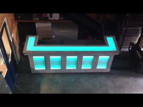 Bar van steigerhout met LEDverlichting  YouTube