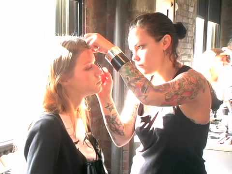 BettyConfidential backstage with Lulu Frost at Fashion Week