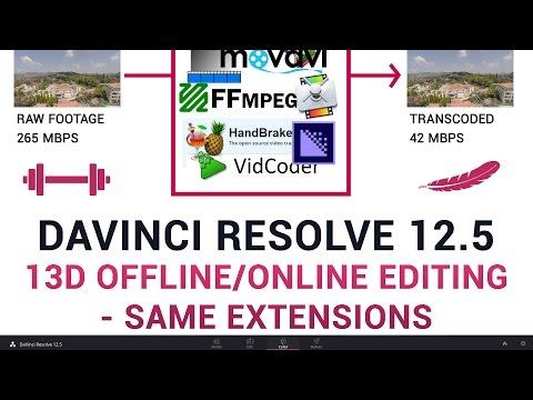 DaVinci Resolve 12.5 - 13d Offline/Online Editing - Same Extensions