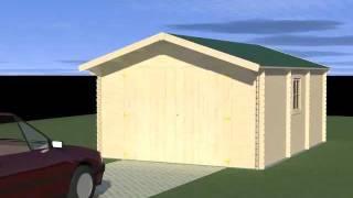 Garage 1 voiture en bois Francorchamps 21,23m² - Vidéo de présentation
