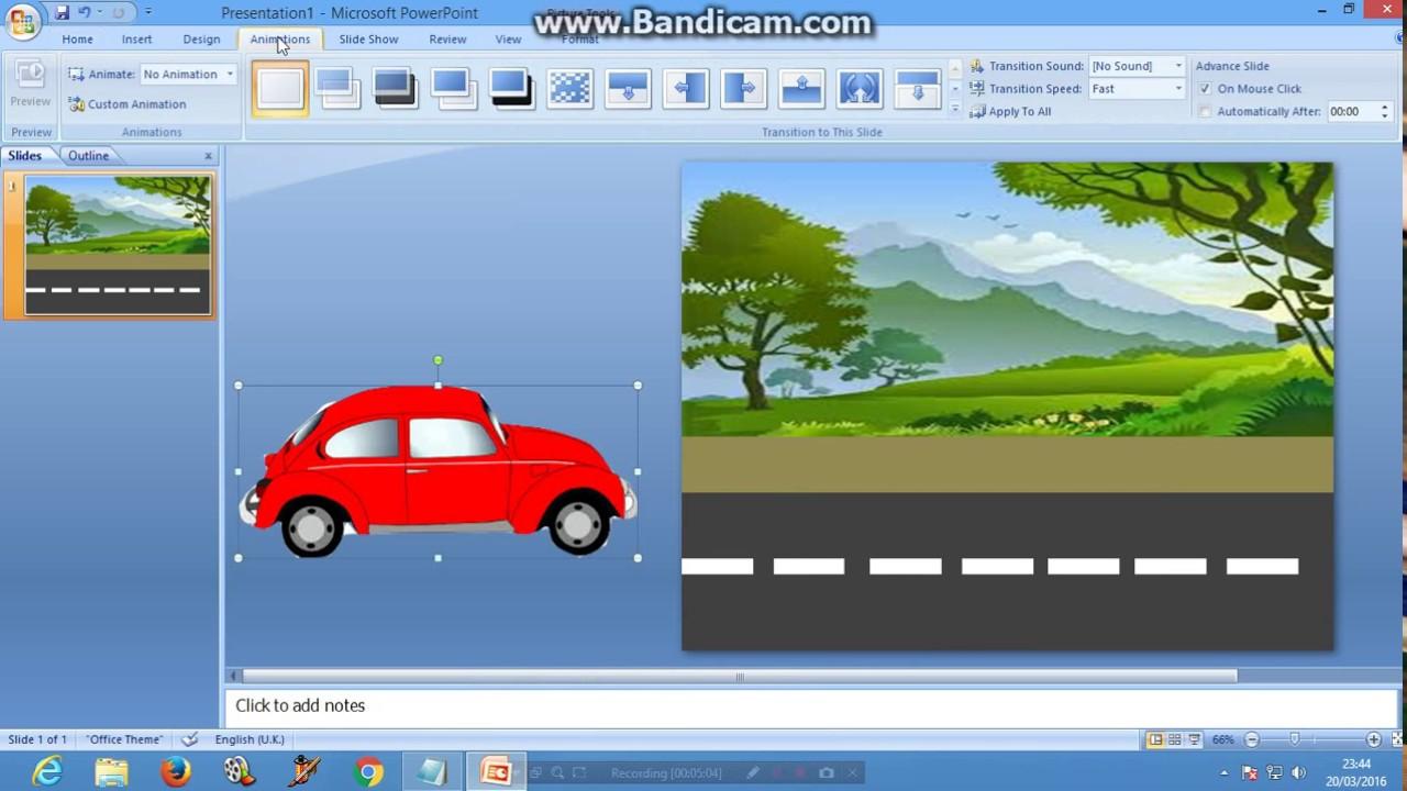 Cara Membuat Animasi Mobil Berjalan Di Power Point Youtube