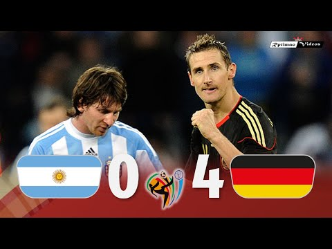 Argentina 0 X 4 Germany ● 2010 World Cup Extended Goals \u0026 Highlights HD