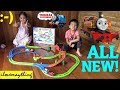 Thomas and Friends Push Along Playset. Thomas and Nia Cargo Delivery Unboxing and Playtime.