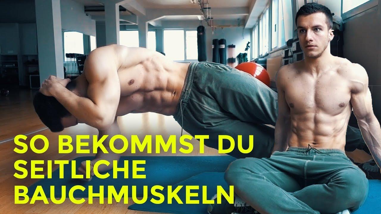 So bekommst du seitliche Bauchmuskeln! Zuhause oder im Gym! - YouTube
