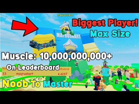Strongest Player On Leaderboard! 5 Trillion Muscle! Max Size - Lifting Simulator