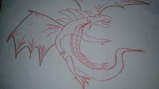 Cara Menggambar 3d Tiga Dimensi Gambar Naga