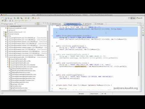 Spring Tutorial 43 - Named Parameter JDBC Template