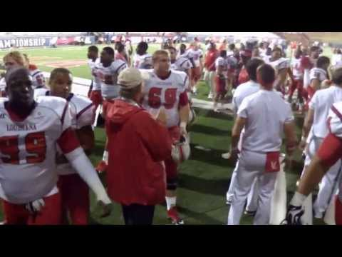 Louisiana@WKU 2013-10-15 Cajuns Singing Fight Song after Victory