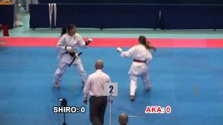 2014 ESKA - Junior Ladies Individual Kumite Final