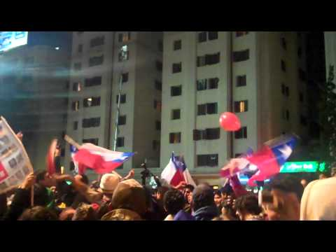 10-13-10:  Chilean Miners are rescued, Santiago crowds - National Anthem