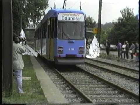 Die Straßenbahn nach Baunatal. Der 1. Teil.1994