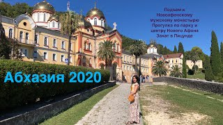 Абхазия 2020. Новый Афон, мужской монастырь, водопад, парк, черные лебеди, закат в Пицунде.