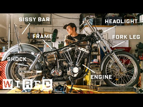 Check out how this mechanic deconstructs a 1974 Harley-Davidson Motorcycle
