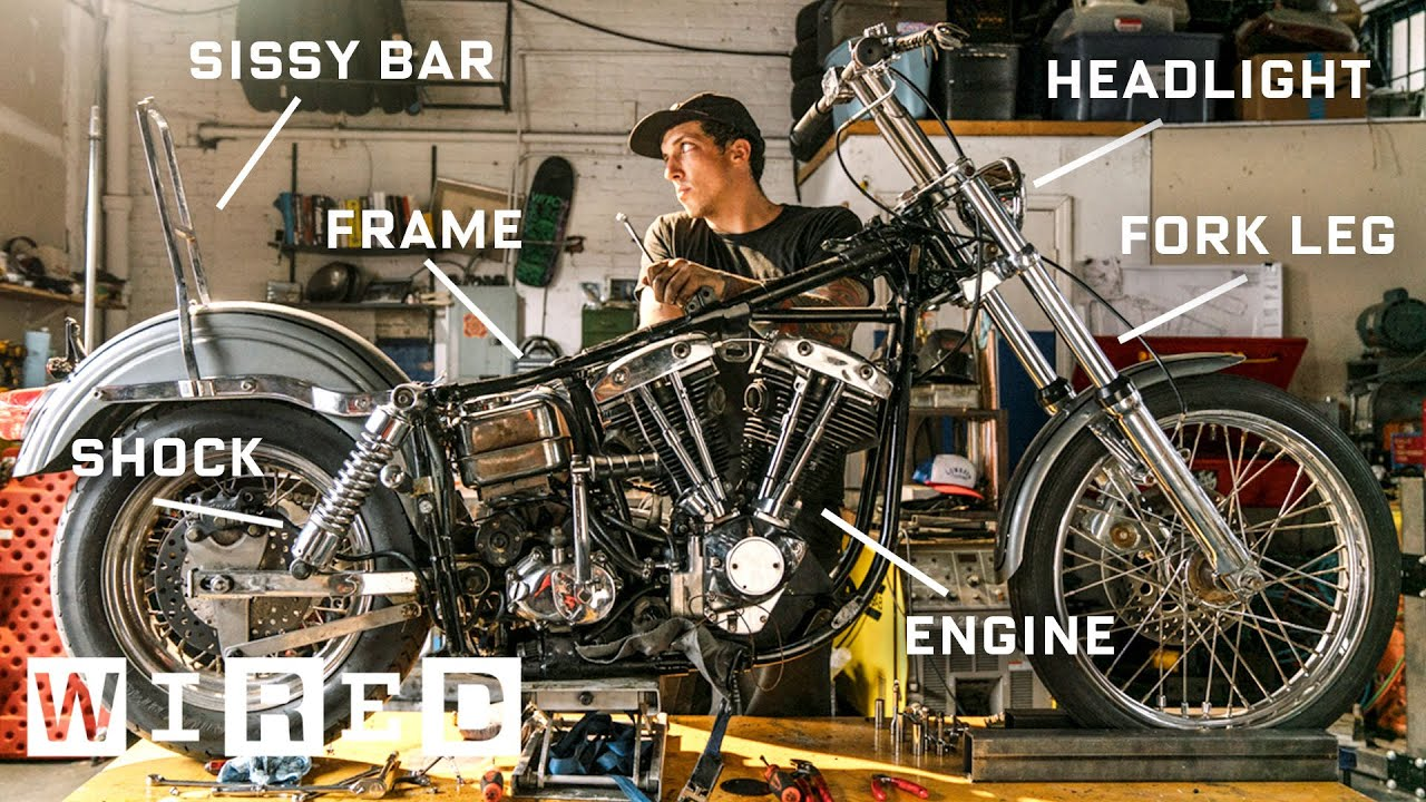 Every Part of a 1974 Harley-Davidson Explained | WIRED - YouTube on