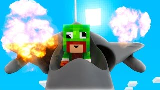 Minecraft - WHO'S YOUR DADDY? BABY FLYS JET! (Baby Nukes World)