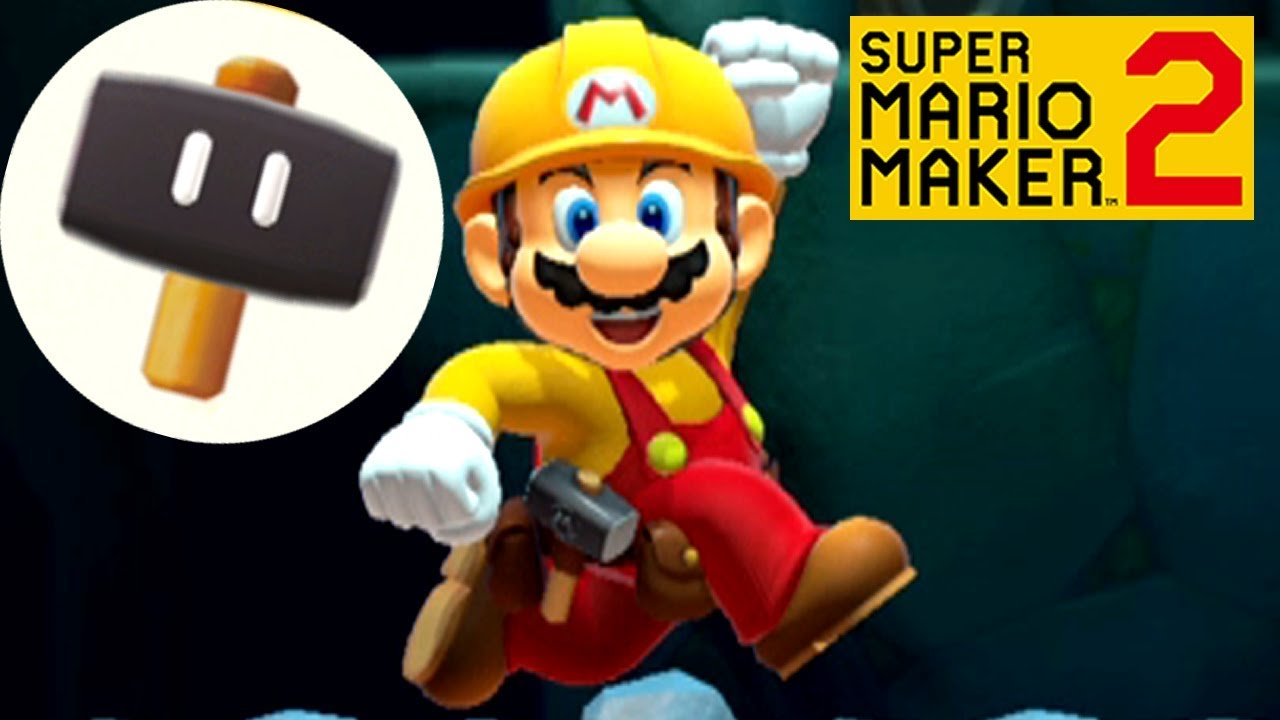 Super Mario Maker 2 SECRET POWERUP - Super Hammer (Play as Builder Mario)