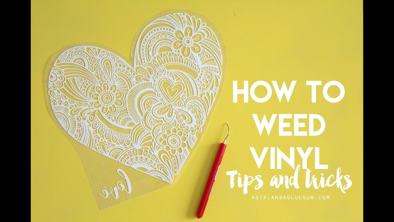 Weeding Craft Vinyl Tips And Tricks Youtube