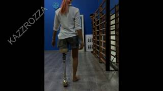 Trying out new socket with my old Ottobock 3R20 prosthetic knee - LAK amputee