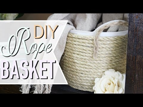 DIY | Rope Basket | Home Decor | AtHomeWithQuita