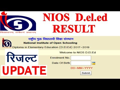 Nios d el ed 504 and 505 result ! d el ed second semester result date new update for 504 505 result