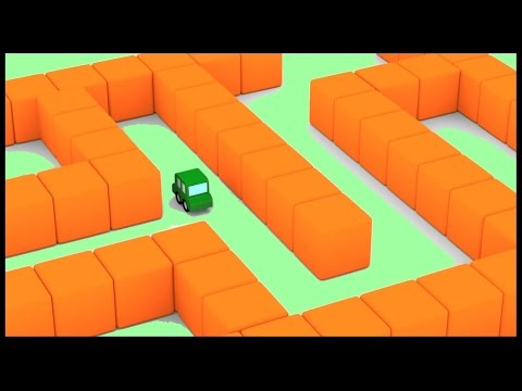 EGG MAZE! - Cartoon Cars Easter Egg Hunt - Puzzle Game! Childrens Animation. Kids Cartoons
