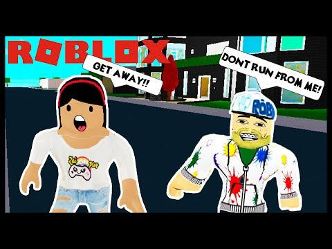 MY CREEPY STALKER IS BACK TRYING TO HACK ME! - Roblox