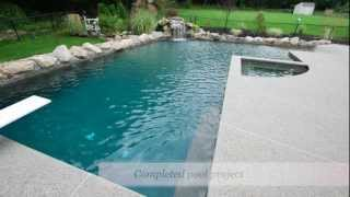 Puraqua Pools -inground Gunite Swiming Pool - Pool Construction- Installation- Waltham, Ma