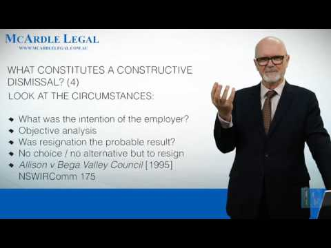CONSTRUCTIVE DISMISSAL - Is it a valid legal concept?