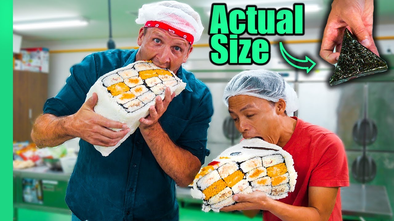 100X HUGE Japanese Onigiri!! Japanese MiniMart Sushi, Sandwiches and More!!