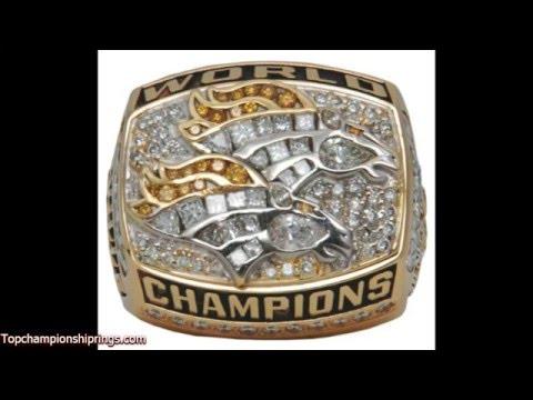 1998 denver broncos championship rings