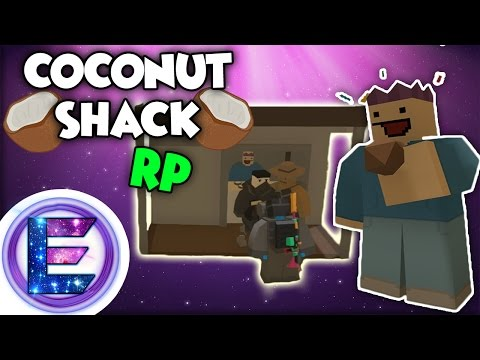 COCONUT SHACK RP - The best coconuts in Hawaii - Unturned roleplay ( Funny Moments )
