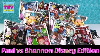 Paul vs Shannon Disney Figural Keyring Blind Bag Challenge Toy Opening Review | PSToyReviews