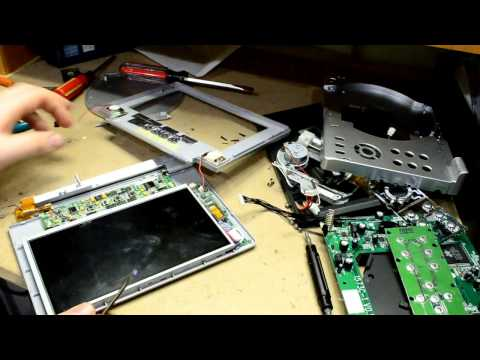 Taking Apart A Portable DVD Player And Screen